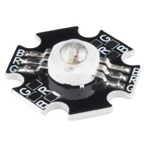 LED Luxeon RGB 3W con base de aluminio