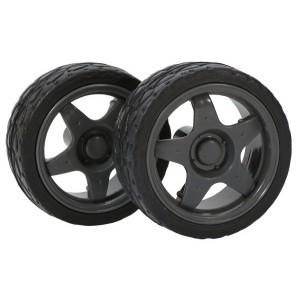 Kit ruedas de goma con taco 64mm (2 unidades)