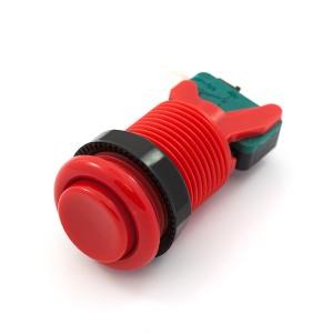 Pulsador arcade con interruptor (Rojo)