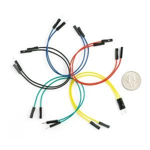 Set de cables Macho / Hembra 15cm (10 Unid.)
