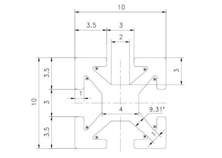 Kit barras MakerBeam 100mm (16 unidades)