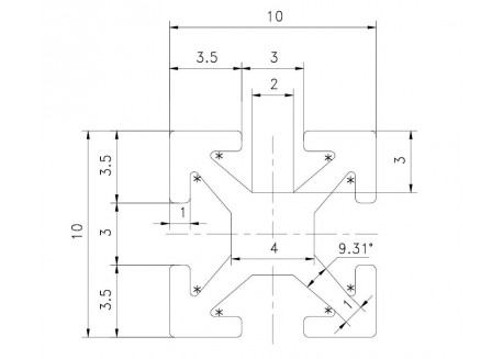 Kit barras MakerBeam 200mm (8 unidades)