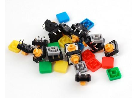 Pack pulsadores de colores (15 unidades)