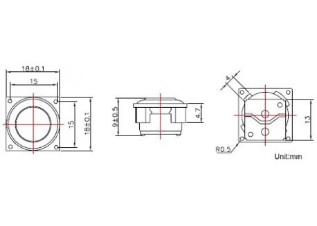 Altavoz 18mm 4 Ohm - 2W