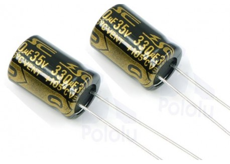 Pack condensadores 330uF - 35V