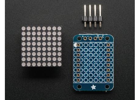Mini matriz de LED 8x8 i2C - Rojo