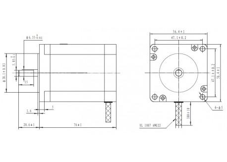 Motor paso a paso 14 Kg/cm