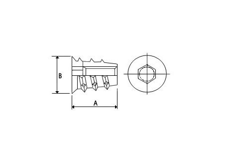 Inserto para madera M4x10mm (20 unidades)