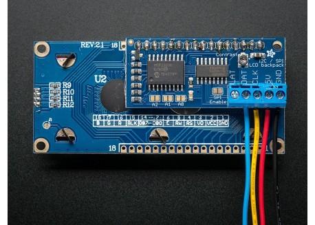 Adafruit LCD Backpack I2C/SPI