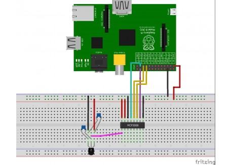 MCP3008 - Conversor ADC 8-bits