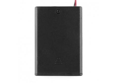 Base para baterías 3xAA con interruptor