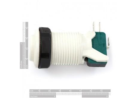 Pulsador arcade con interruptor (Blanco)