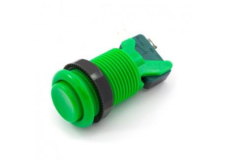 Pulsador arcade con interruptor (Verde)