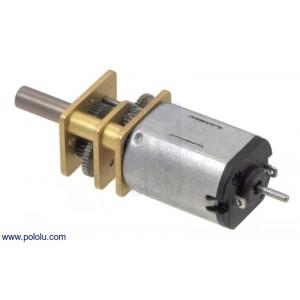 Motor micro metal 150:1 HP con eje extendido