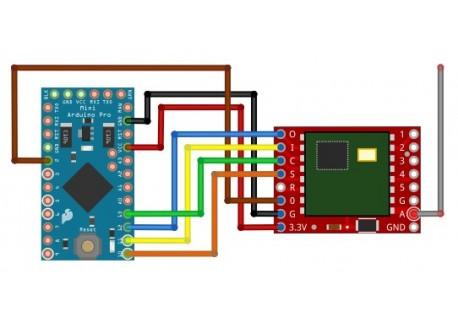 Transmisor Bidireccional RFM69HCW (434 MHz)