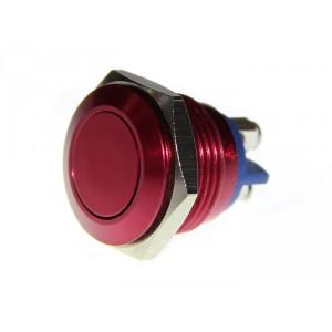 Pulsador antivandálico 16mm - Rojo