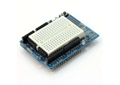 Protoshield para Arduino UNO con breadboard