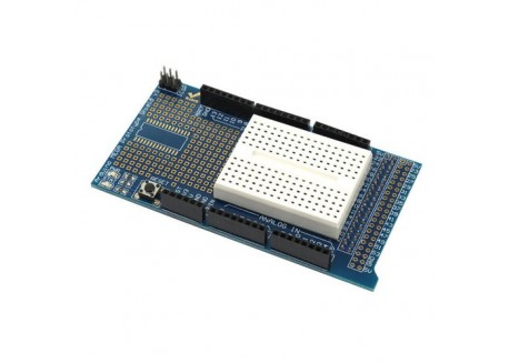 Protoshield kit Arduino MEGA 2560 con breadboard