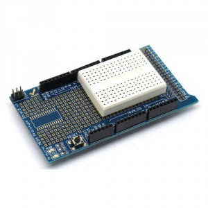 Protoshield kit Arduino MEGA 2560 con breadboard