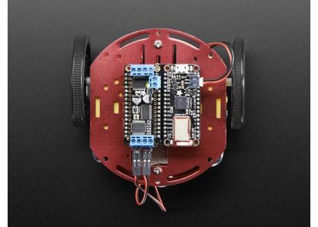 Kit chasis robot redondo con motores (2WD)