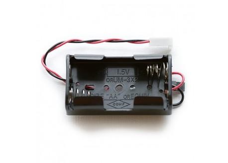 Caja de pilas 2xAA con conversor 5V DC