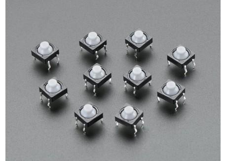 Pulsador de goma 8mm (10 unidades)
