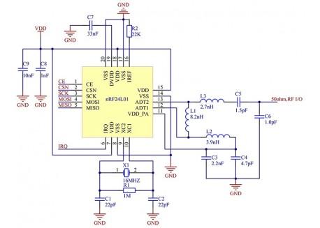 Transceptor inalámbrico NRF24L01 (2.4GHz)