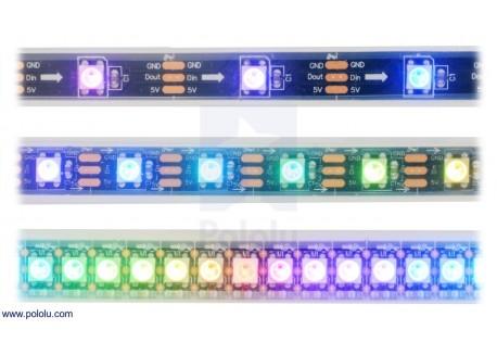 Tira de LED RGB 0.5m 72 LEDs (SK6812)