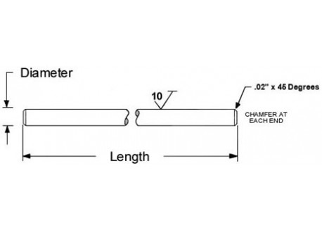 Varilla de acero inoxidable 8mm / 100mm