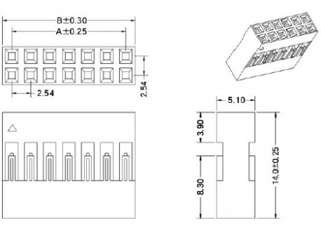 Conector tipo DuPont 1x2 (25 unidades)