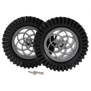 Kit ruedas de goma con taco 80mm (2 unidades)