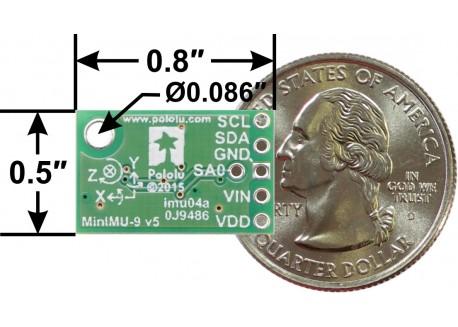 Giroscopio MinIMU-9 v5 - LSM6DS33 y LIS3MDL