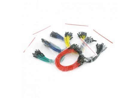 Set de cables Premium para protoboard (100 Unid.)