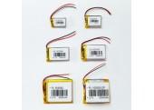 Pack Baterías Lipo 3.7V, 6 valores (250, 500, 900, 1200, 2000 y 6000mAh)