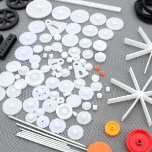 Surtido de engranajes y poleas de plástico