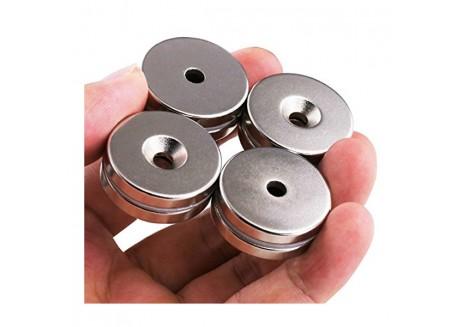 Disco Magnético de Neodimio Avellanado - 32x5mm