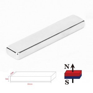 Barra Magnética de Neodimio de 60x10x5mm