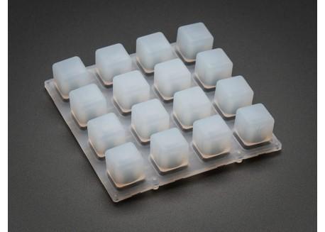 Matriz pulsadores Silicona para LED 3mm (4x4)