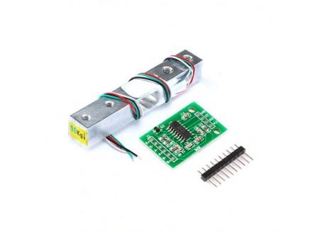 Celula de carga 10Kg con amplificador HX711