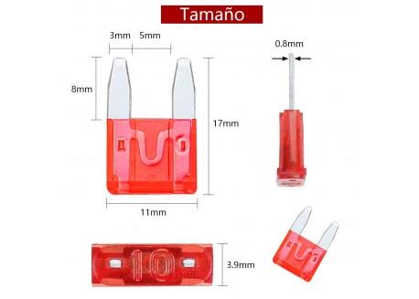 Kit mini fusibles para coche (100 unidades 10 valores)