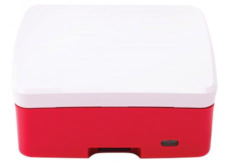 Caja Oficial Raspberry Pi 4 Modelo B, Roja/Blanca