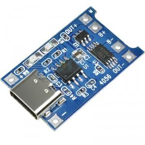 Cargador LiPo USB Tipo-C TC4056