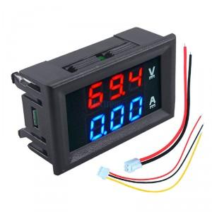 Mini voltímetro digital con amperímetro (100V 10A)