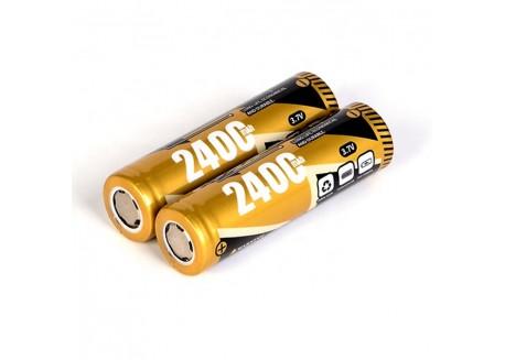 Pack de 2 Baterías Li-ion 18650 - 2400mAh, 3.7V