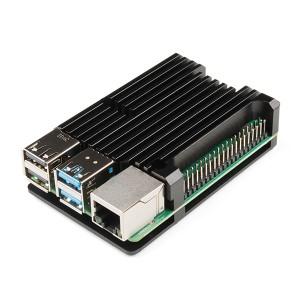 2 en 1, Carcasa y Disipador de aluminio para Raspberry Pi 4 - Negro