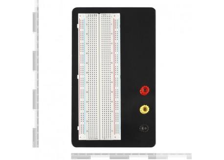 Placa de prototipo con conectores de alimentación