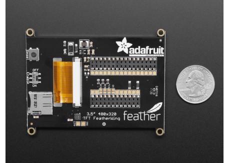"""Adafruit TFT FeatherWing 3.5"""" 480x320 táctil"""