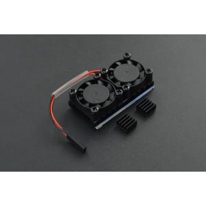 Kit ventilador doble con disipador para RaspberryPi