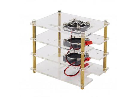Caja cluster Raspberry Pi - 3 bahías