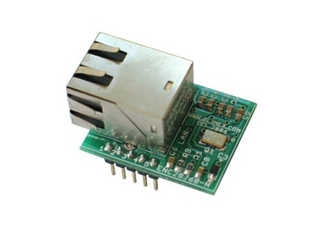 Placa prototipo Ethernet ENC28J60